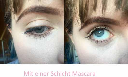Benefit BADgal BANG! Volumen-Mascara - Wimpern mit einer Schicht Mascara