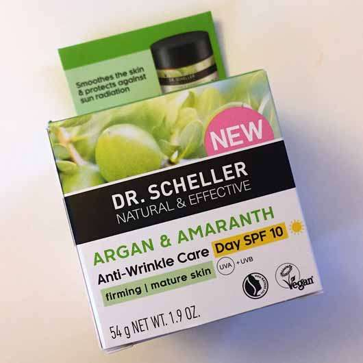 DR. SCHELLER Argan & Amaranth Anti-Falten Pflege Tag LSF 10 - Verpackung