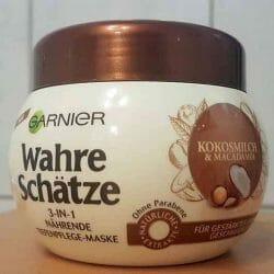 Produktbild zu Garnier Wahre Schätze 3-In-1 Nährende Tiefenpflege-Maske Kokosmilch & Macadamia