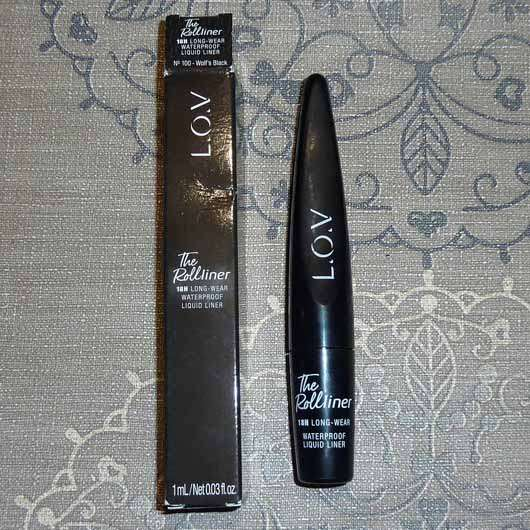 L.O.V THE ROLLliner 18h Long-Wear Waterproof Liquid Liner, Farbe: 100 Wolf's Black