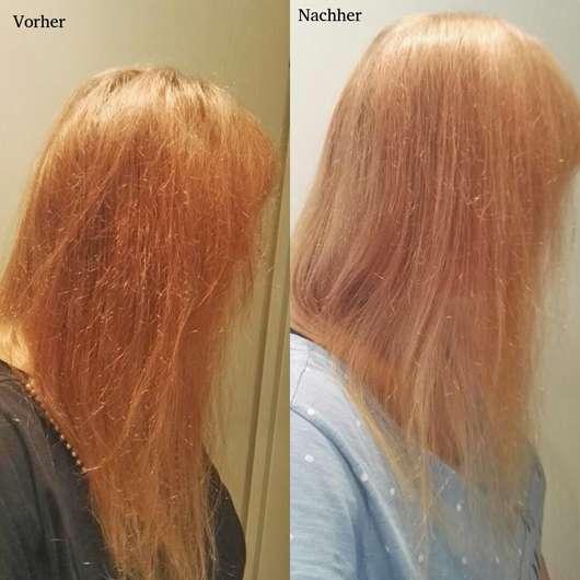 Haare vor/nach dem Test des Nature Box Avocado-Öl Shampoos