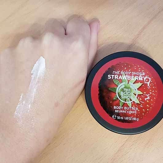 The Body Shop Strawberry Body Butter - Konsistenz