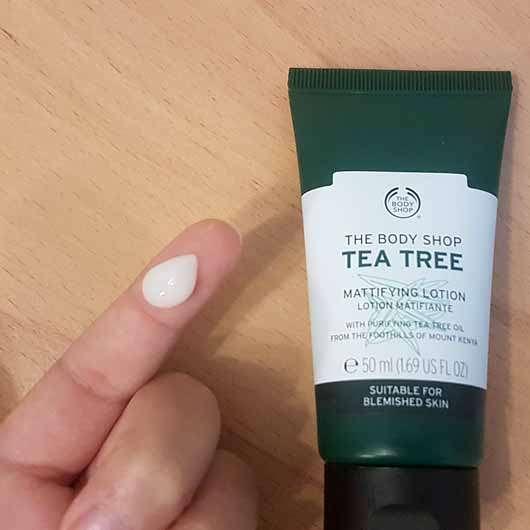 The Body Shop Tea Tree Mattifying Lotion - Konsistenz