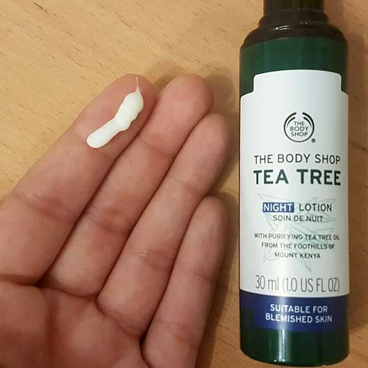 The Body Shop Tea Tree Night Lotion - Konsistenz