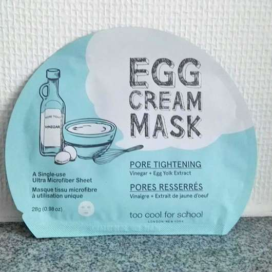 <strong>too cool for school</strong> EGG Cream Mask Pore Tightening