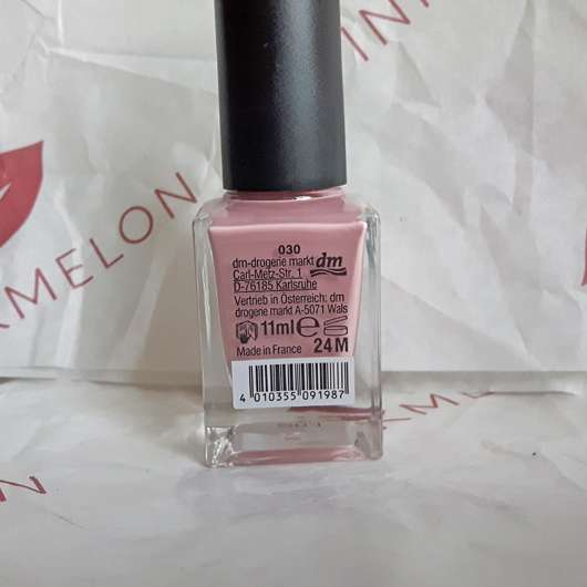 Verpackungsrückseite - trend IT UP Double Volume & Shine Nail Polish, Farbe: 030