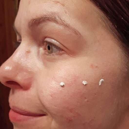 Haut vor dem Verblenden mit dem Pinsel
