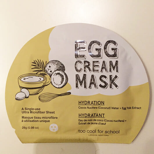 <strong>too cool for school</strong> EGG Cream Mask Hydration