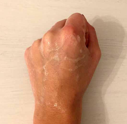 Alterra Sensitiv-Shampoo Jojoba & Bio-Mandel - Schaumentwicklung