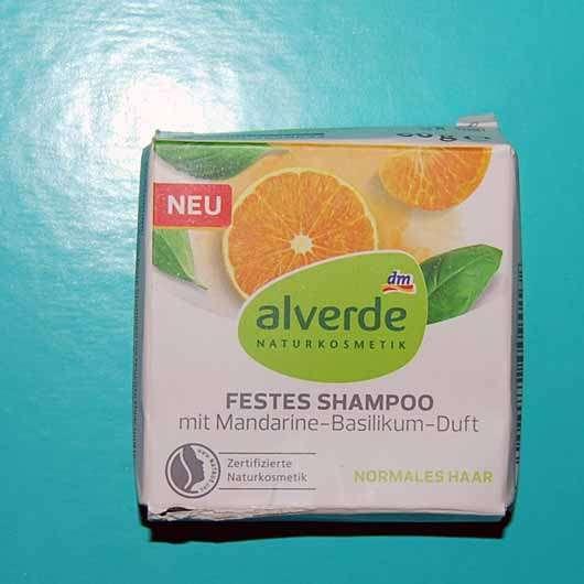 "alverde festes Shampoo ""Mandarine-Basilikum"""