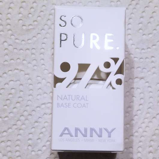 ANNY So Pure 97% Natural Base Coat