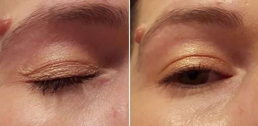 Augen Make-up mit Rival de Loop Metallic Eyeshadow, Farbe: 03 honey glow