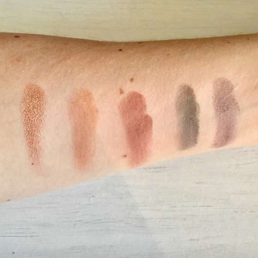 Zoeva Cocoa Blend Eyeshadow Palette - Swatches ohne Base (untere Reihe)