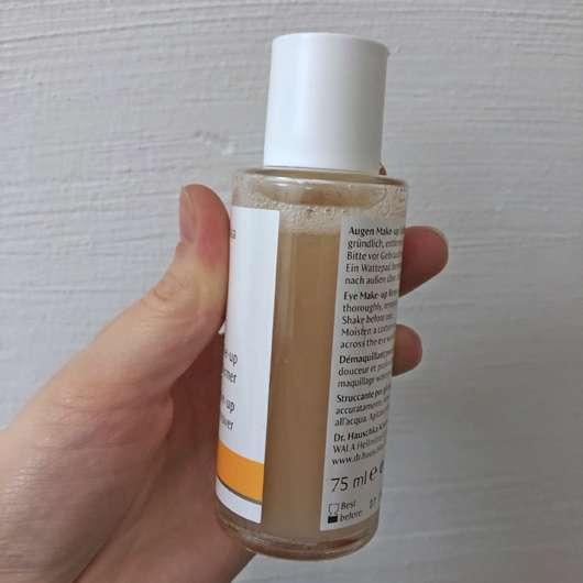 Dr. Hauschka Augen Make-up Entferner mit gratis Abschminkpads - Flasche geschüttelt