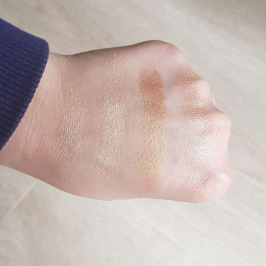 Swatches - essence glow to go highlighter palette, Farbe: 10 sunkissed glow