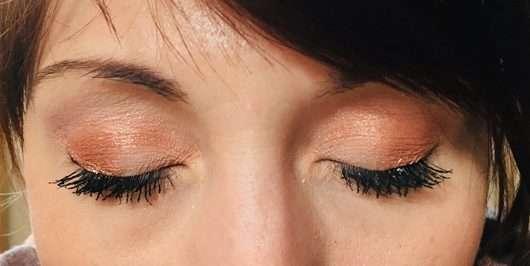 Augen Make-up mit Khaki und Chrome