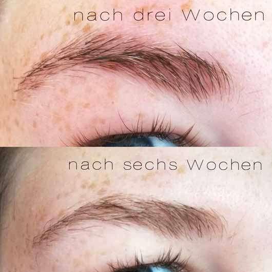 ISANA Lash Color Augenbrauen- & Wimpernfarbe, Farbe: Braun - Augenbrauen und Wimpern nach einigen Wochen