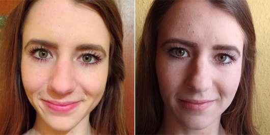 L.A.B.2 Multi-Purpose Brush - Make-up vor (li.) und nach (re.) dem Verblenden
