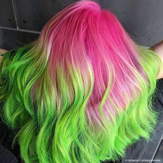 Laut, lauter, Neon-Haare: Der neue Farbtrend