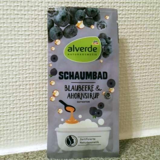 alverde Schaumbad Blaubeere & Ahornsirup - Sachet