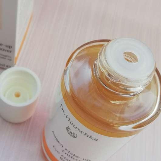Dr. Hauschka Augen Make-up Entferner mit gratis Abschminkpads - Dosieröffnung