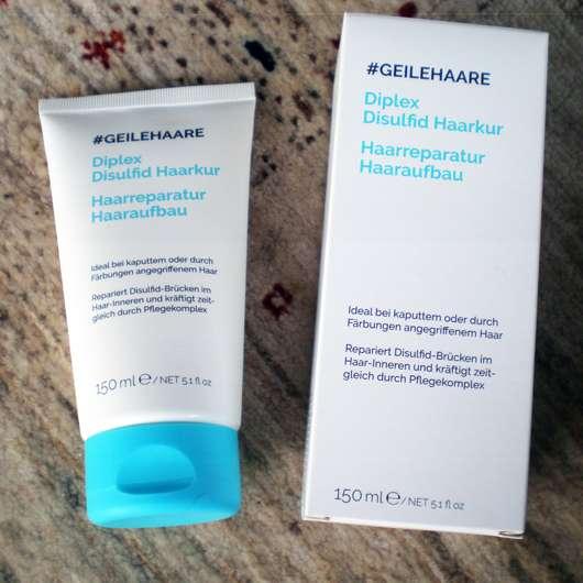 #GEILEHAARE Diplex Disulfid Haarkur Haarreparatur - Verpackung und Tube