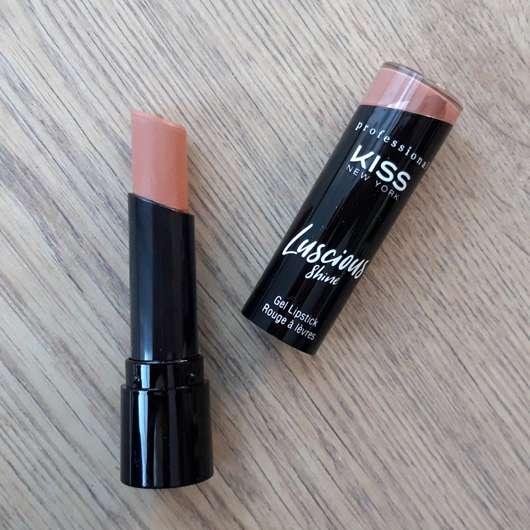 KISS Professional New York Luscious Gel Shine Lipstick, Farbe: 03 Mocha Shake - geöffnet