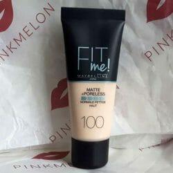 Produktbild zu Maybelline New York Fit Me! Matte + Poreless Mattierendes Make-up – Farbe: 100 Warm Ivory