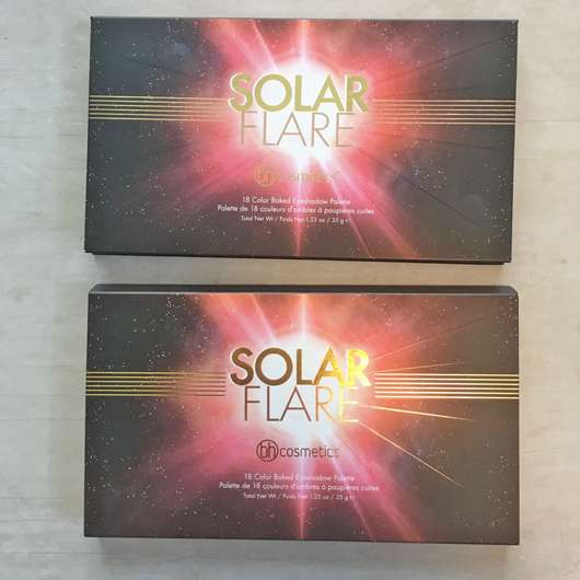 bh cosmetics Solar Flare 18 Color Baked Eyeshadow Palette