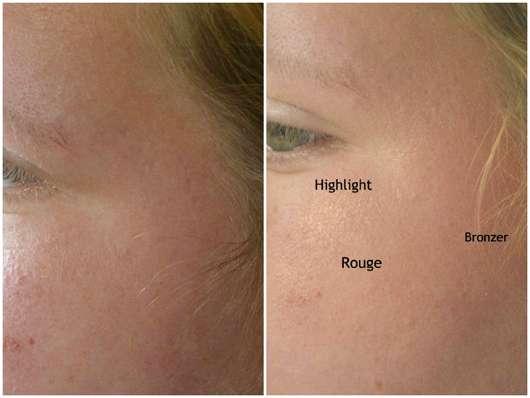 essence hey cheeks blush, bronzer & highlighter palette - Gesicht ohne und mit Produkten