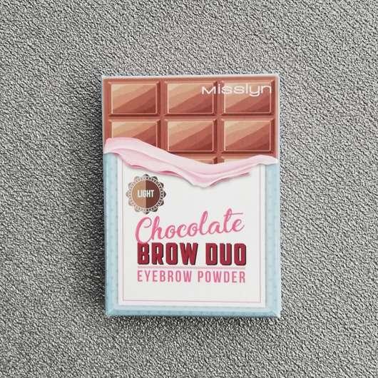Misslyn Chocolate Brow Duo Eyebrow Powder, Farbe: 2 Light Chocolate