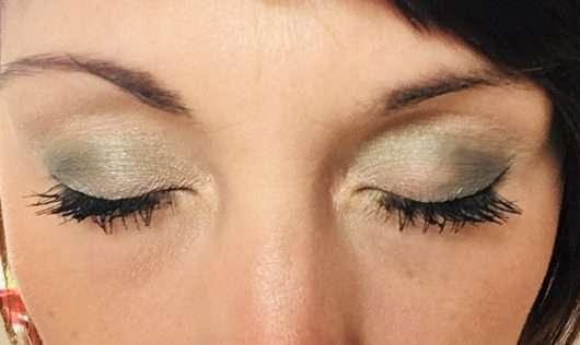 Augen Make-up mit den Farben aus dem Misslyn Eye Want It! Eyeshadow Set, Farbe: 56 Leaf Me Alone (LE)