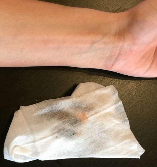 NIVEA Mizellen Reinigungstücher mit Reh-Motiv (LE) - Reinigungsergebnis