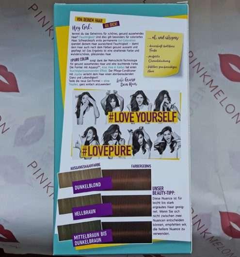 Verpackungsrückseite - Schwarzkopf #Pure Color Dauerhafte Gel-Haarfarbe, Farbe: 5.6 Schokosucht
