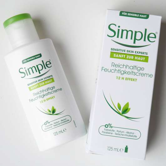 <strong>Simple</strong> Reichhaltige Feuchtigkeitscreme