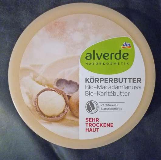 <strong>alverde Naturkosmetik</strong> Körperbutter Bio-Macadamianuss Bio-Karitébutter