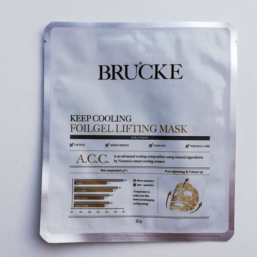 BRUCKE Keep Cooling Foilgel Lifting Mask
