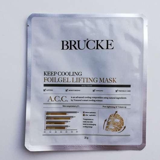 <strong>BRUCKE</strong> Keep Cooling Foilgel Lifting Mask