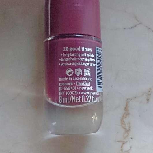 essence shine last & go! gel nail polish, Farbe: 20 good times