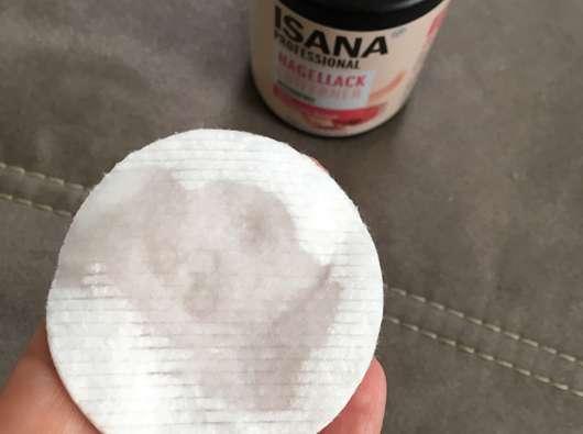 ISANA PROFESSIONAL Nagellackentferner acetonfrei (ohne stechenden Geruch) - Flüssigkeit auf dem Wattepad