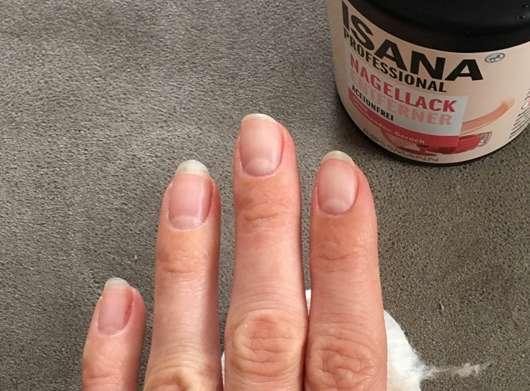 ISANA PROFESSIONAL Nagellackentferner acetonfrei (ohne stechenden Geruch) - ablackierte Nägel