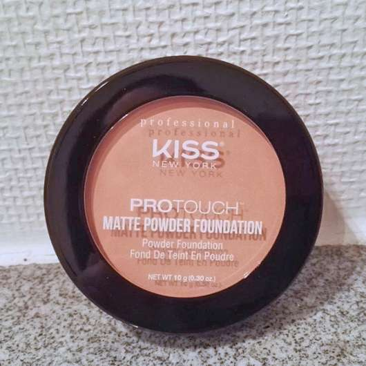 KISS Professional New York Pro Touch Matte Powder Foundation, Farbe: 125 Classic Ivory