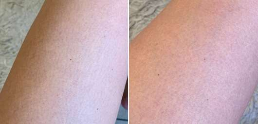 M. Asam Kirschblüte Peeling - Haut zu Testbeginn (links) // nach 4-wöchigem Test (rechts)