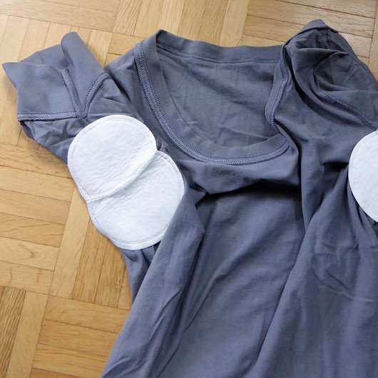 MYDRY Achselpads, Farbe: Weiß - ins Shirt geklebt
