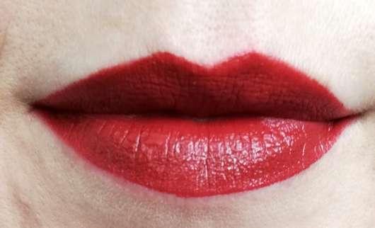 Shiseido VisionAiry Gel Lipstick, Farbe: 223 Shizuka Red - Lippenstift frisch aufgetragen