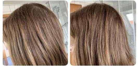 STRUCTURE by JOICO Boost Thickening Spray - Haare vorher/nachher Anwendung bei trockenem Haar