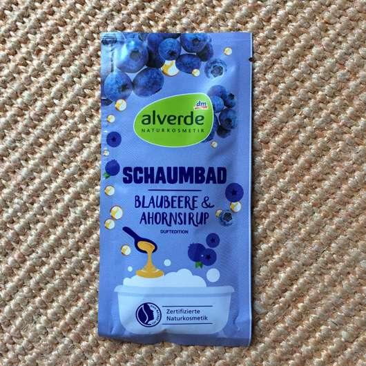 alverde Schaumbad Blaubeere & Ahornsirup