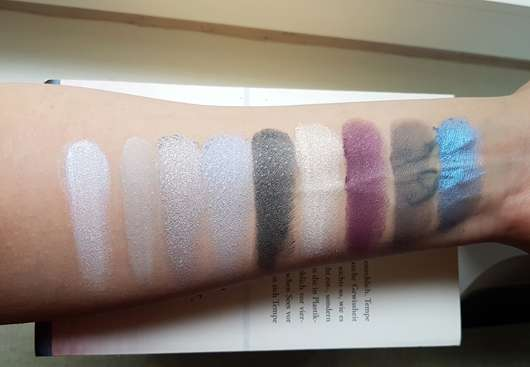essence hello new york eyeshadow palette, Farbe: 03 - Swatches mit Base