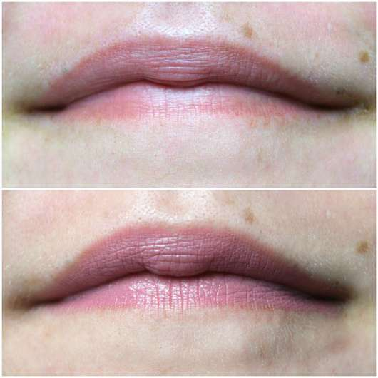Misslyn Color Crush Lipstick, Farbe: 83 At First Blush - auf den Lippen