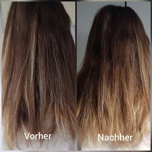 nju by xLaeta refresh with nju peach After Sun Haarspray (LE) - Haare Vorher/Nachher